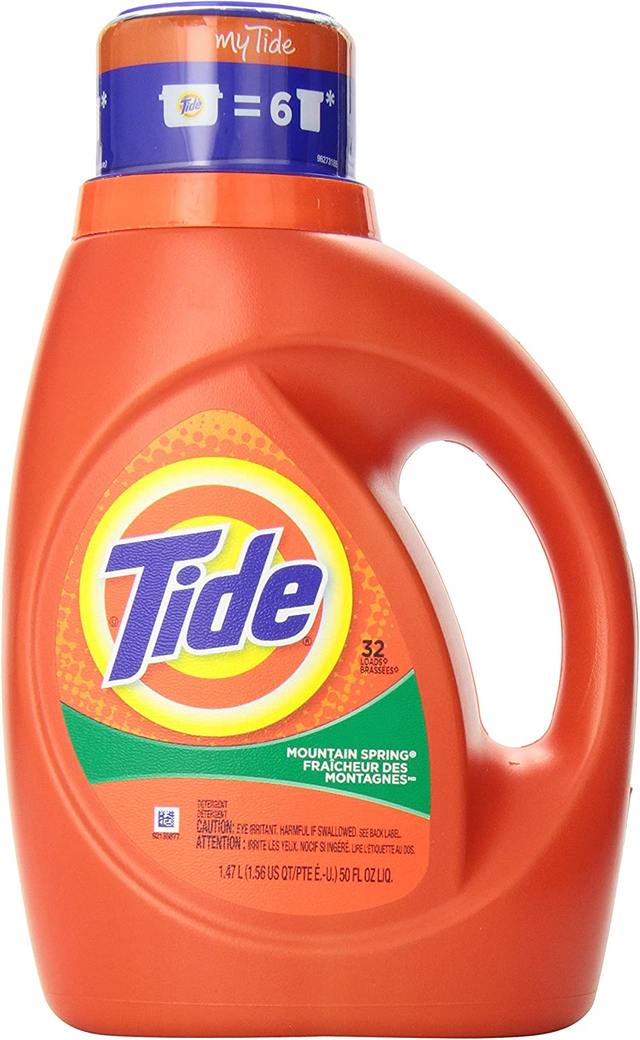 Tide Liquid Laundry Detergent with Acti-Lift, Mountain Spring Scent, 1.47 L (32 Loads)