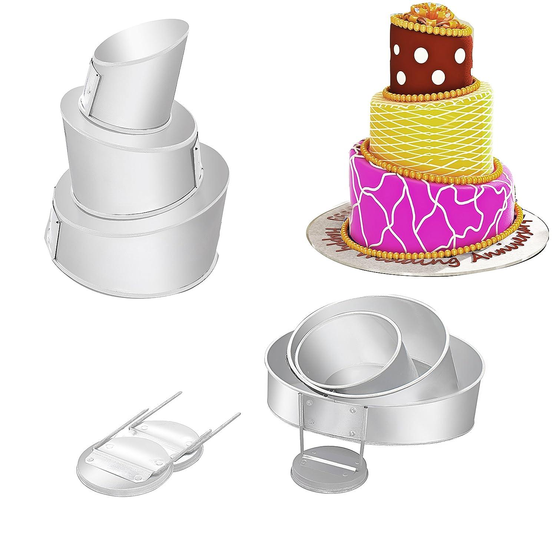 Euro Tins Multi Layer Cake Pans Mini Topsy Turvy Round 4