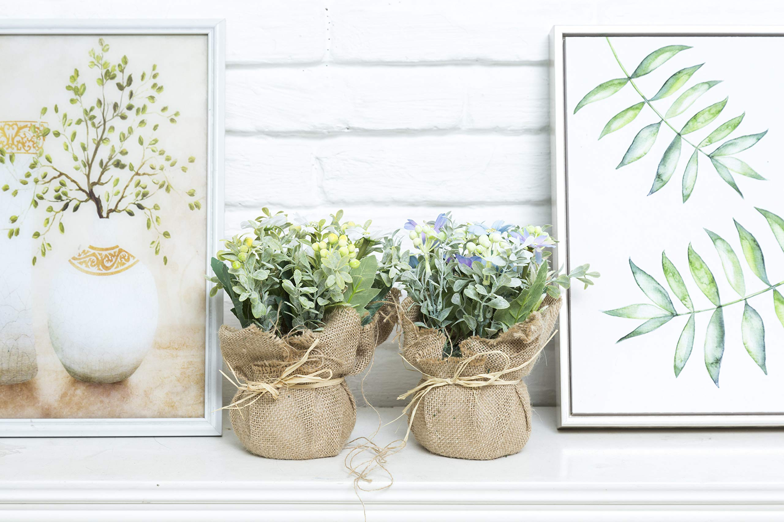 LODESTAR-Artificial-Flower-in-Beautiful-Pot-Mini-Fake-Floral-Bouquet-Indoor-Outdoor-Home-Office-Wedding-Decoration
