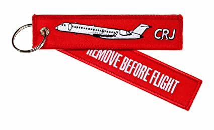 Llavero remove BEFORE FLIGHT ---CRJ ---Incluye anillo para ...