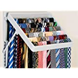 TieMaster (Grey). An Elegant Tie & Scarf Wardrobe Organizer. Showcase up to 60 ties for the perfect choice every time. Space