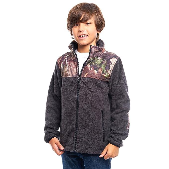 b624b4692aa43 TrailCrest Children's C-Max Full Zip Fleece Jacket, Mossy Oak, Break ...