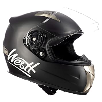 f72918264ce Amazon.es: Westt Casco Moto Integral - Storm Negro Mate ECE