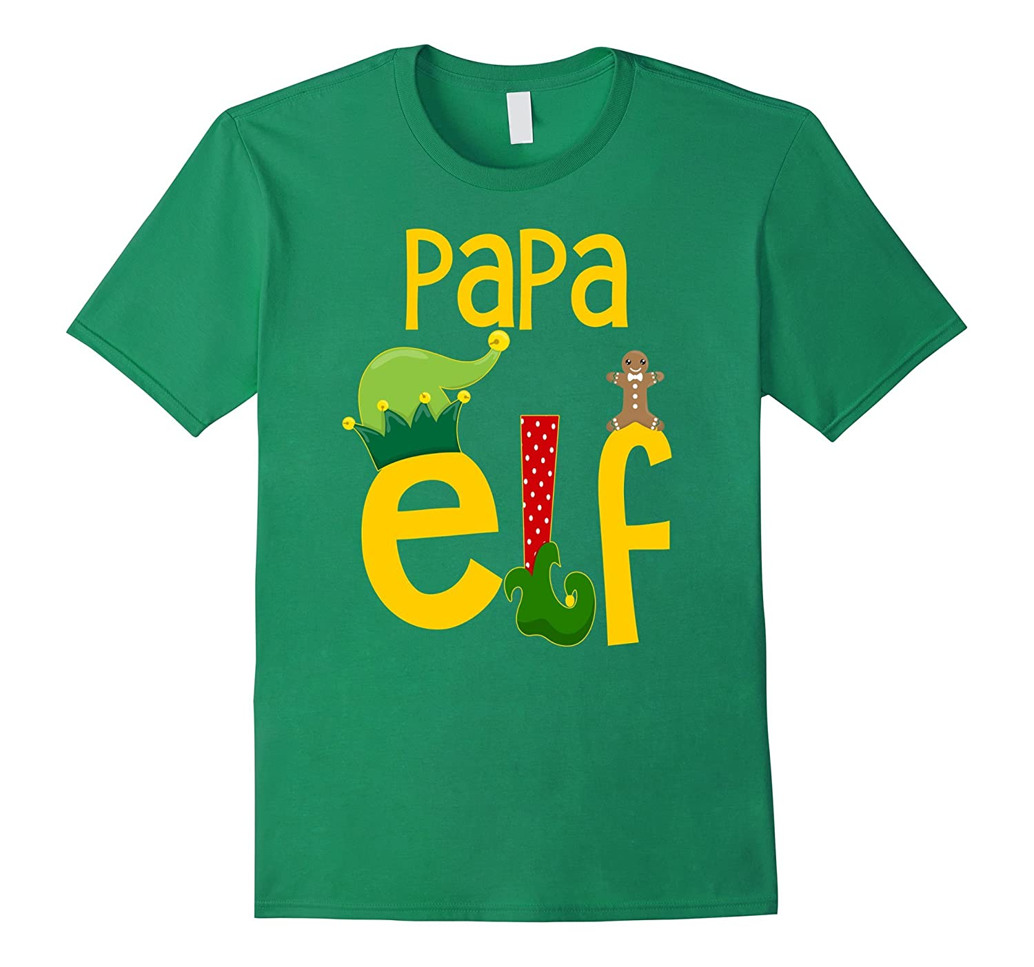 a6b51e7ef Mens Papa Elf Dad Funny Christmas T-Shirt Matching Family Shirts-ANZ ...