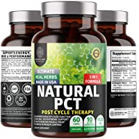 N1N PCT Supplement for Men [Max Strength] 3-in-1 Post Cycle Therapy with Estrogen Blocker and Testosterone Booster, Enhanced with Fenugreek, Milk Thistle and Tongkat Ali, 60 Caps