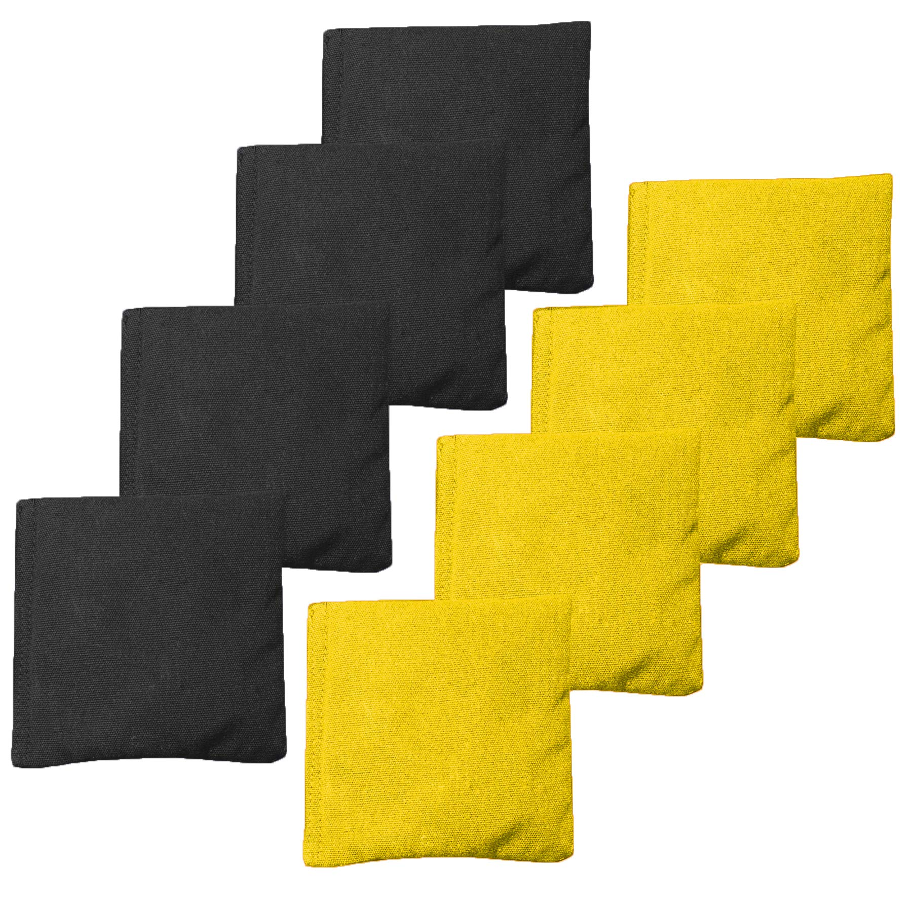 Play Platoon Premium Weather Resistant Duckcloth Cornhole Bags - Set of 8 Bean Bags for Corn Hole Game - Regulation Size & Weight - 4 Yellow & 4 Black by Play Platoon