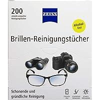 ZEISS Brillen-reinigingsdoekjes, 200 stuks, voor het voorzichtig en grondig reinigen van je brillenglazen, elke doek…