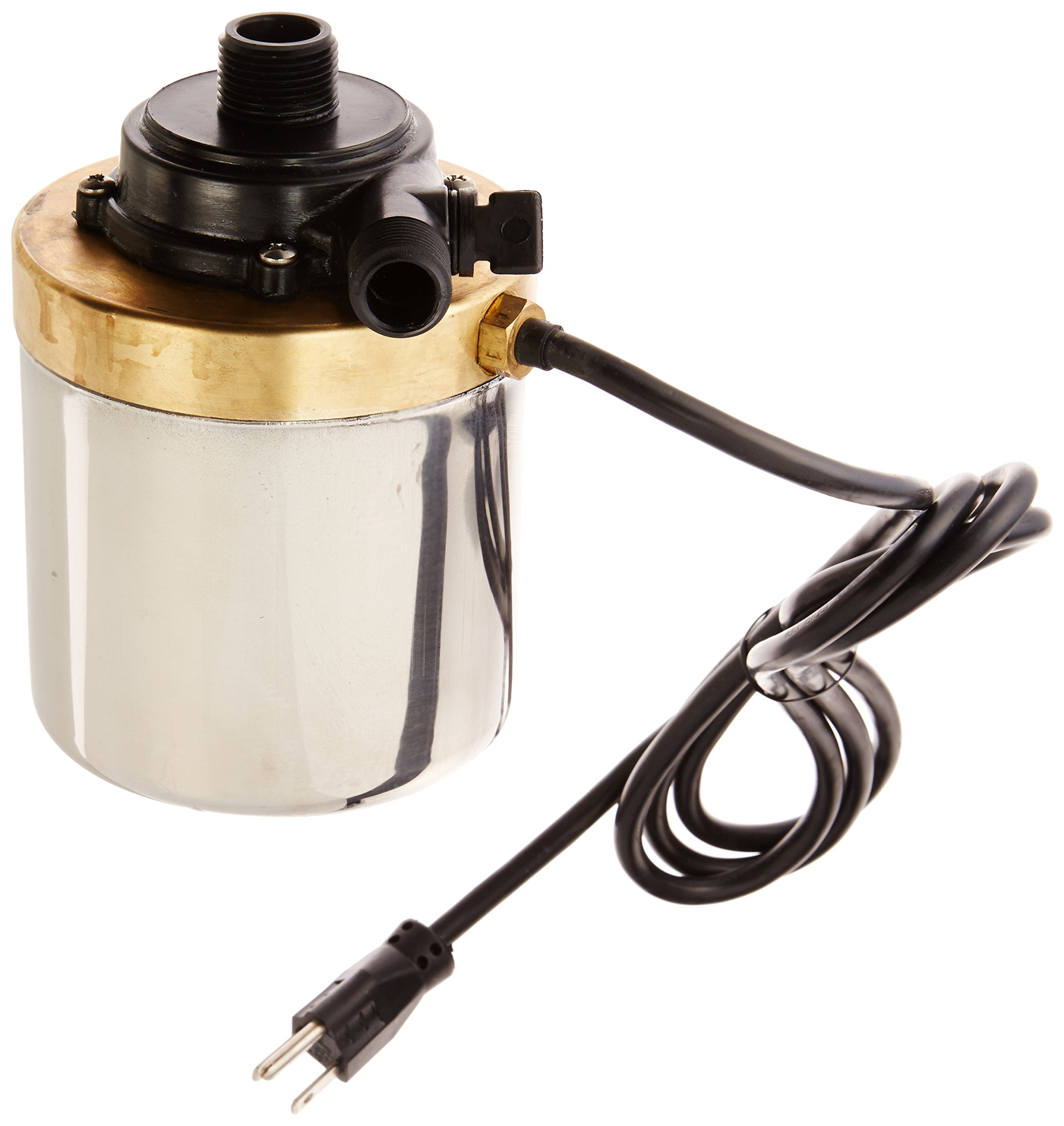 Little Giant 517005 Stainless Steel 580GPH Pump with 6-Feet Cord, Bronze
