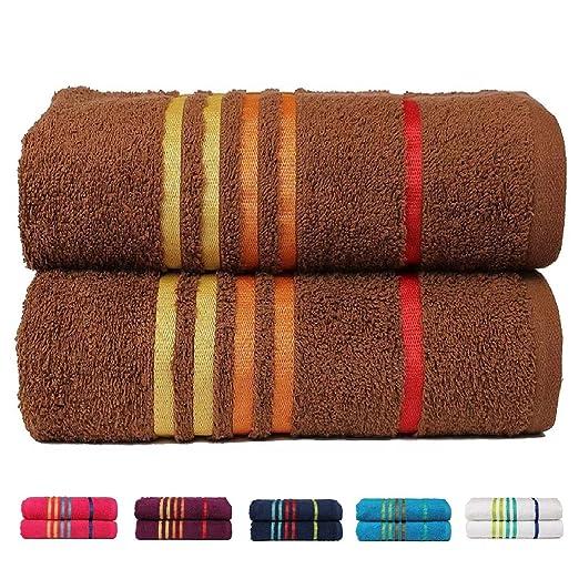 19 opinioni per Casa Copenhagen Exotic Collezione- Set di 2 asciugamani da bagno 60cm x 120cm in