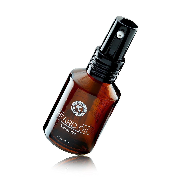 Masculine Craft Beard Oil Moisturizer | Scented Beard Oil with Pump |  Moisturize Flaky Skin, Dry