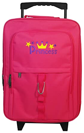 Amazon.com | Kids Travel Zone Little Girls' Princess Suitcase In ...