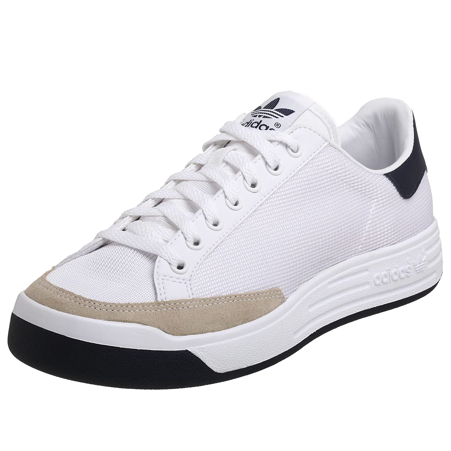 adidas Originals Men's Rod Laver Tennis Shoe, White/New Navy, 7.5 M