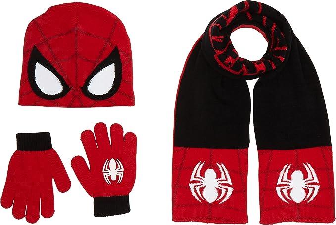 Marvel Spiderman Bambino set cappello scaldacollo guanti