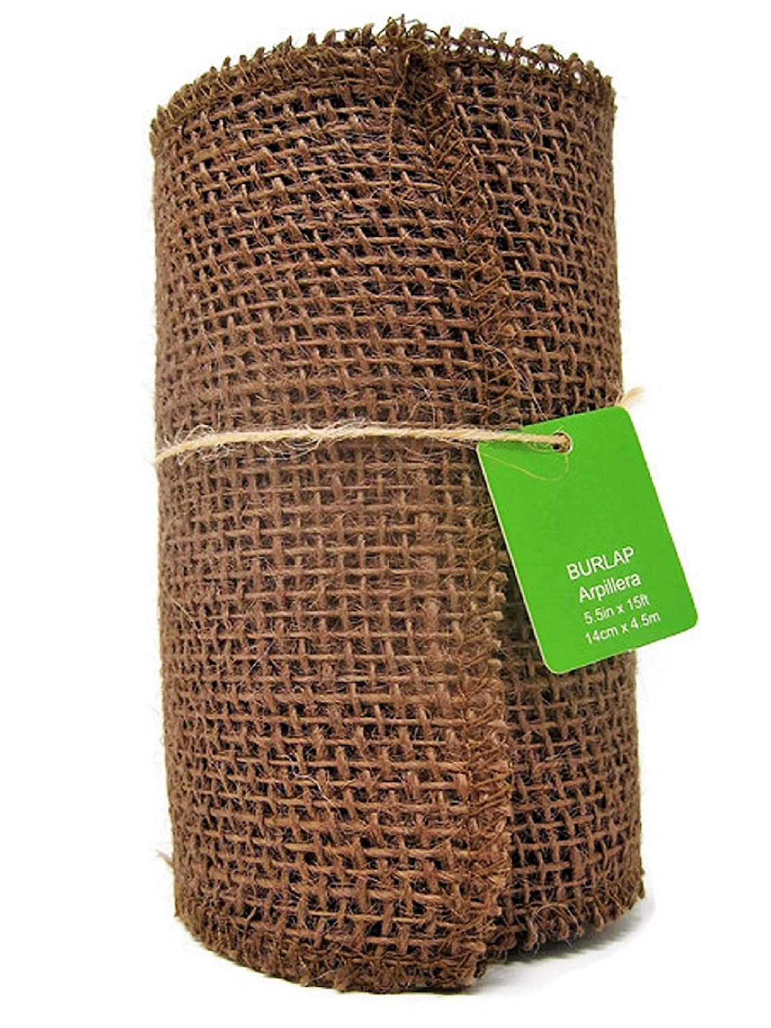 Brown Burlap Roll 5.5 x 15' 6923026103828