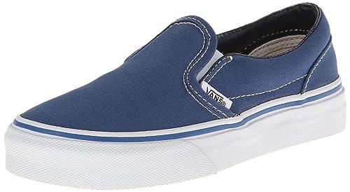 Vans Classic Slip-on - Zapatos de Cordones de Lona para Niño Azul Blu (Navy) 48,5 (13 UK)