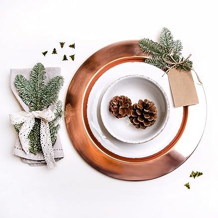 Sottopiatto Copper rame kupferfarbener piatto metallo piatto ...
