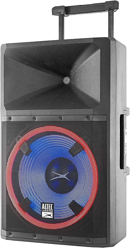 Altec Lansing ALP-L10PK Lightning Series Indoor Outoor Ultra Powerful  Bluetooth 10 Peak Watt Speaker with Party Lights and Built in Media Player
