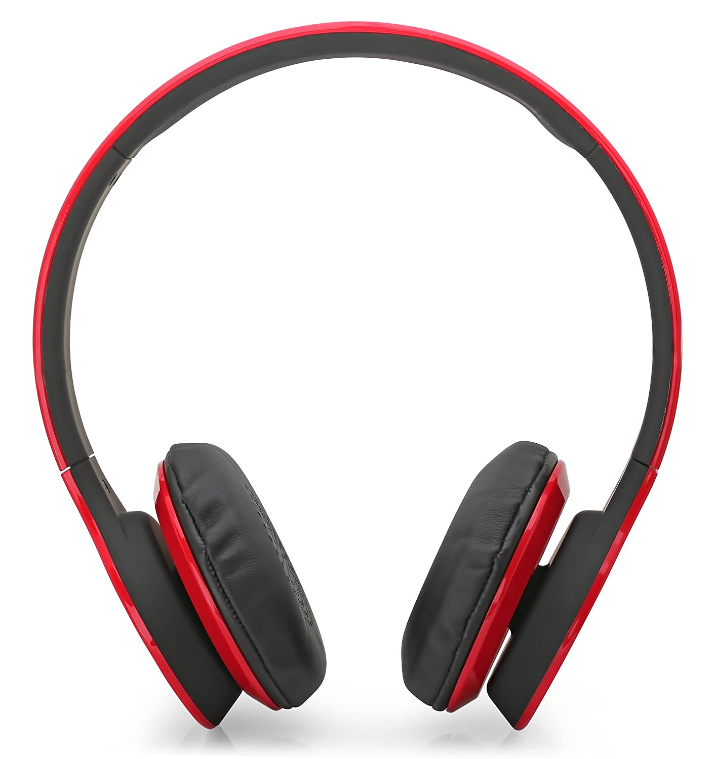 60812e4827e Aduro AMPLIFY Bluetooth Wireless Stereo Headphones / Headset with Built-in  Mic (Retail Packaging) (Red): Amazon.co.uk: Electronics
