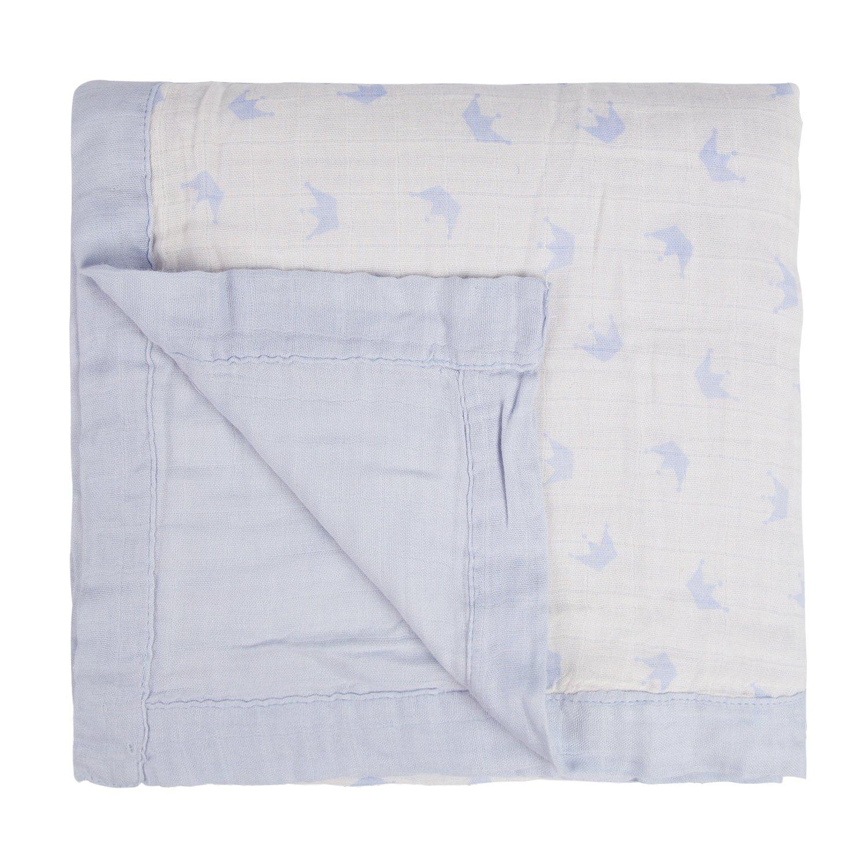 Manta de muselina súper suave para bebés unisex de dos capas y cuatro capas, 70