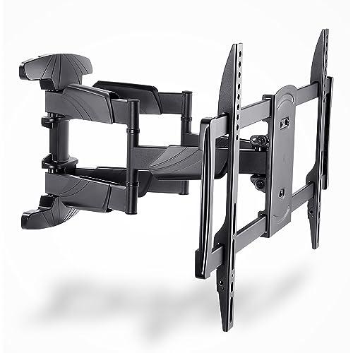 IBRA Soporte de pared giratorio e inclinable para FLAT Curved TV s de 32 65 80 165 CM Max Vesa 400x400 Máximo 45kg 99lbs color negro