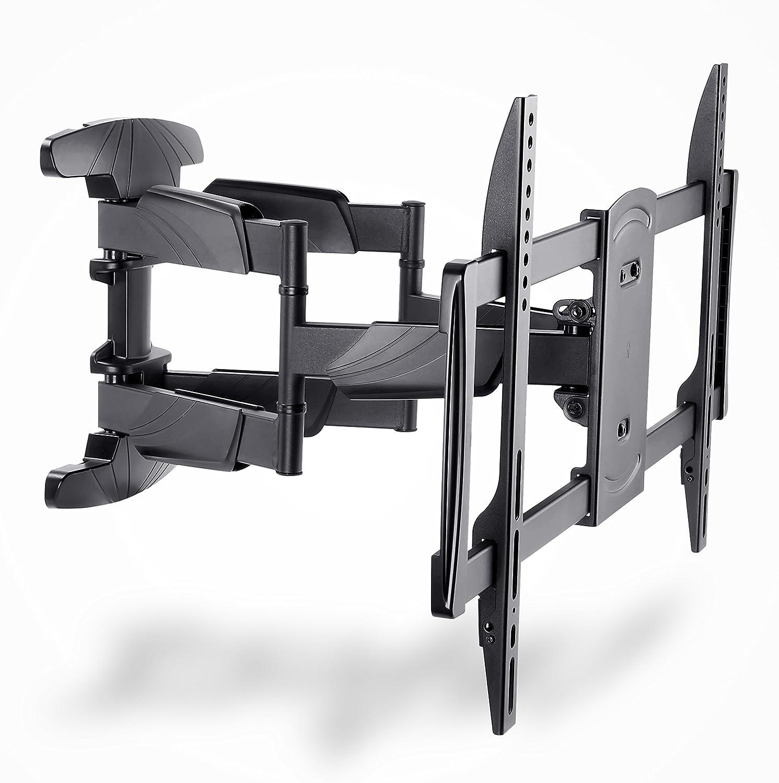 HD ZONE IBRA® - Staffa da parete per TV schermo piatto LED/LCD da 17 a 37, orientabile in senso orizzontale e verticale con sistema a blocco, gestione cavi e livella integrata HD-153A