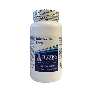 Amazon.com: Biotics Research Intenzyme Forte -- 500 Tablets ...