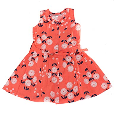 9740a1f217df8 Twist Baby Girl Kids Cotton Printed Frocks/A-Line Dress Gown/Regular ...