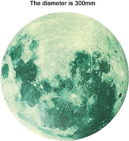 adhesivo luminoso habitaci/ón infantil 435 piezas lunares luminosos y adhesivos lunares Gwolf Luminoso Pegatinas de Pared Vinilo decorativo adhesivo luminoso estrellas luminosas autoadhesivas