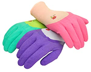 G & F 2030 Women Garden Gloves with Micro Foam Nylon Latex Coated, Texture Grip, 3 Pair Pack