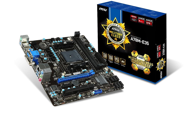 MSI A78M-E35 AMD A78 Socket FM2+ Micro ATX - Placa Base (DDR3-SDRAM, DIMM, 1066,1333,1600,1866,2133 MHz, Dual, 32 GB, AMD): Amazon.es: Informática