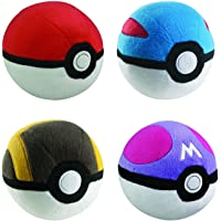 pokeball Mini Poke Ball Collection 4pc Complete Plush Set GreatBall UltraBall MasterBall Mini for Kids