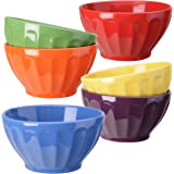 Signature Housewares Fluted Bowls, Assorted, Set of 6