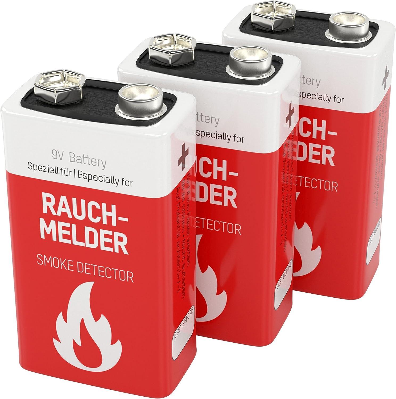 3 Ansmann Lithium Longlife Rauchmelder 9v Block Elektronik