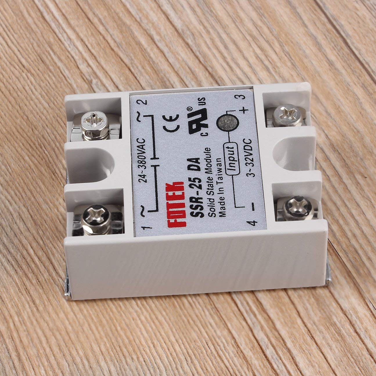 Solid State Relay SSR-25DA 25A Module 3-32V TO 24-380V AC SSR 25DA Relay Solid State Plastic Cover Case COLOR:White