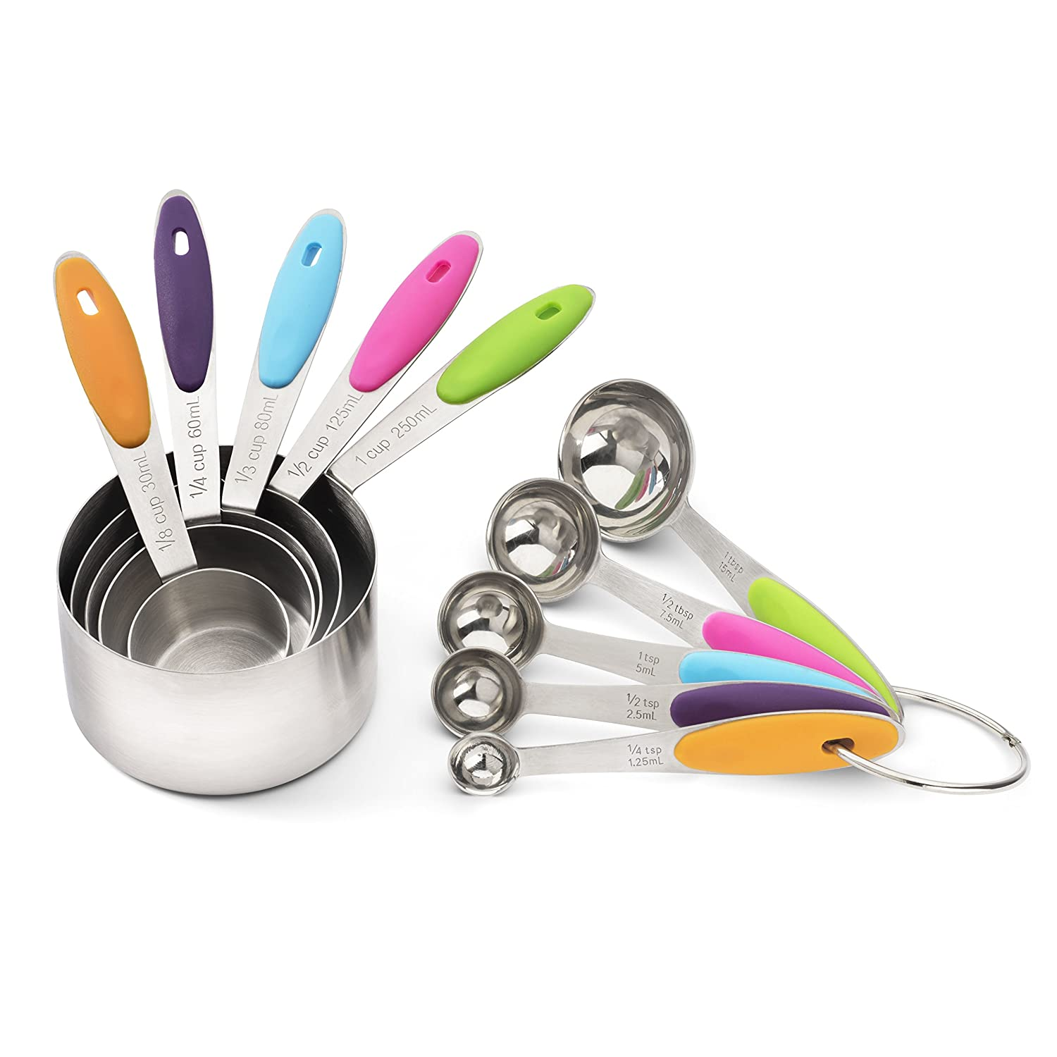 Decorative Measuring Spoons And Cups Amazoncom Measuring Cup And Measuring Spoon Set In Stainless
