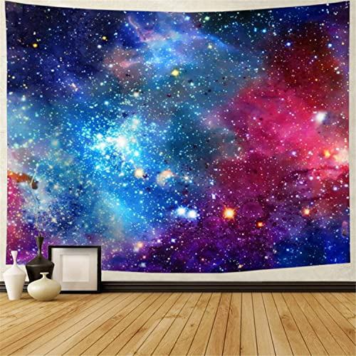 Galaxy Tapestry Nebula Tapestry Starry Sky Tapestry Colorful Cosmic Out Space Tapestry Psychedelic Mystic Stars Tapestry Wall Hanging for Ceiling Living Room Dorm Decor 92.5 70.5 , Galaxy