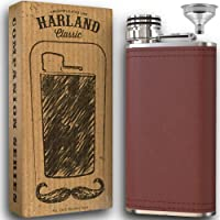 8oz Grip Cap Pocket Flask + Funnel + 2x Wider Mouth - Premium 18/8#304 Stainless Steel Highest Food Grade | Soft Touch…