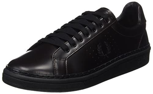 Fred Perry B721 High Shine Leather, Zapatos de Cordones Oxford para Hombre, Rojo (Oxblood), 41 EU