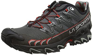 La Sportiva Ultra Raptor - Deportivos de running para hombre, rojo/gris: Amazon.es: Zapatos y complementos