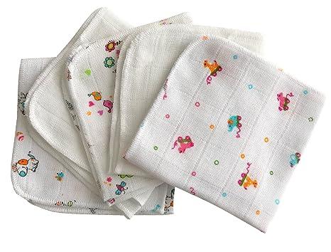 Babymajawelt® Toallitas de algodón 25x25cm de primera calidad, 5 unidades, manopla para bébé