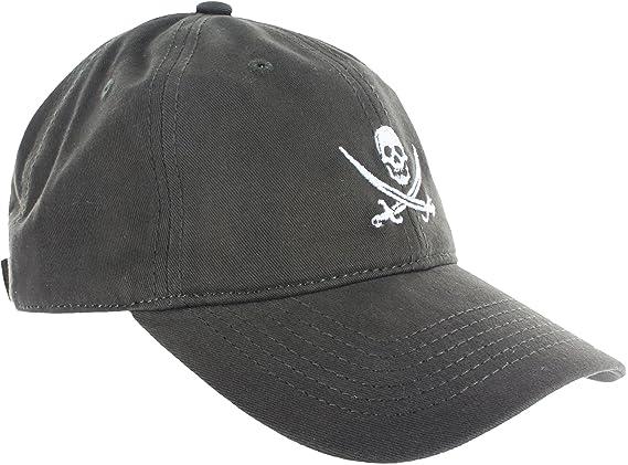eca5a06ef Dad Hat Cap - Jolly Roger Embroidered Adjustable Dark Green Baseball Cap at  Amazon Men's Clothing store: