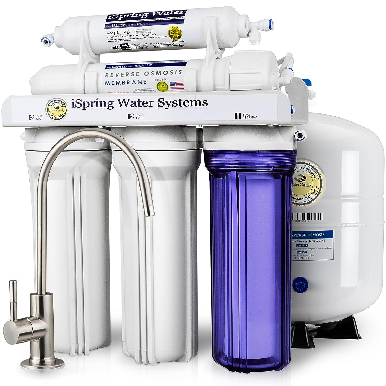 iSpring RCC7 High Capacity Under Sink 5-Stage Reverse Osmosis ...