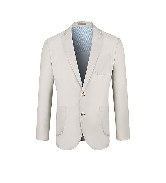Amazon.com: Elegante Slim Fit – Blazers Caqui de los hombres ...