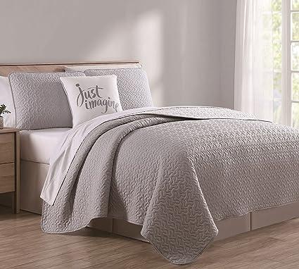 Amazon 4 Piece Marshall Graywhite Quilt Set King Home Kitchen