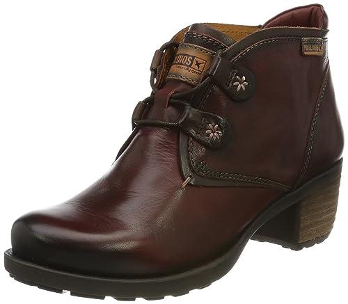 Pikolinos LE MANS-1 838-8657_I12 - Botines fashion de cuero para mujer, color rojo, talla 40 EU: Amazon.es: Zapatos y complementos