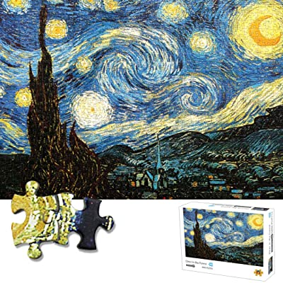1000 Piece Puzzles Starry Night Jigsaw Puzzle for Adults Teen Kids- Difficult and Challenge, Pieces Fit Together Perfectly Funny Family Games, Home Decoration: Toys & Games