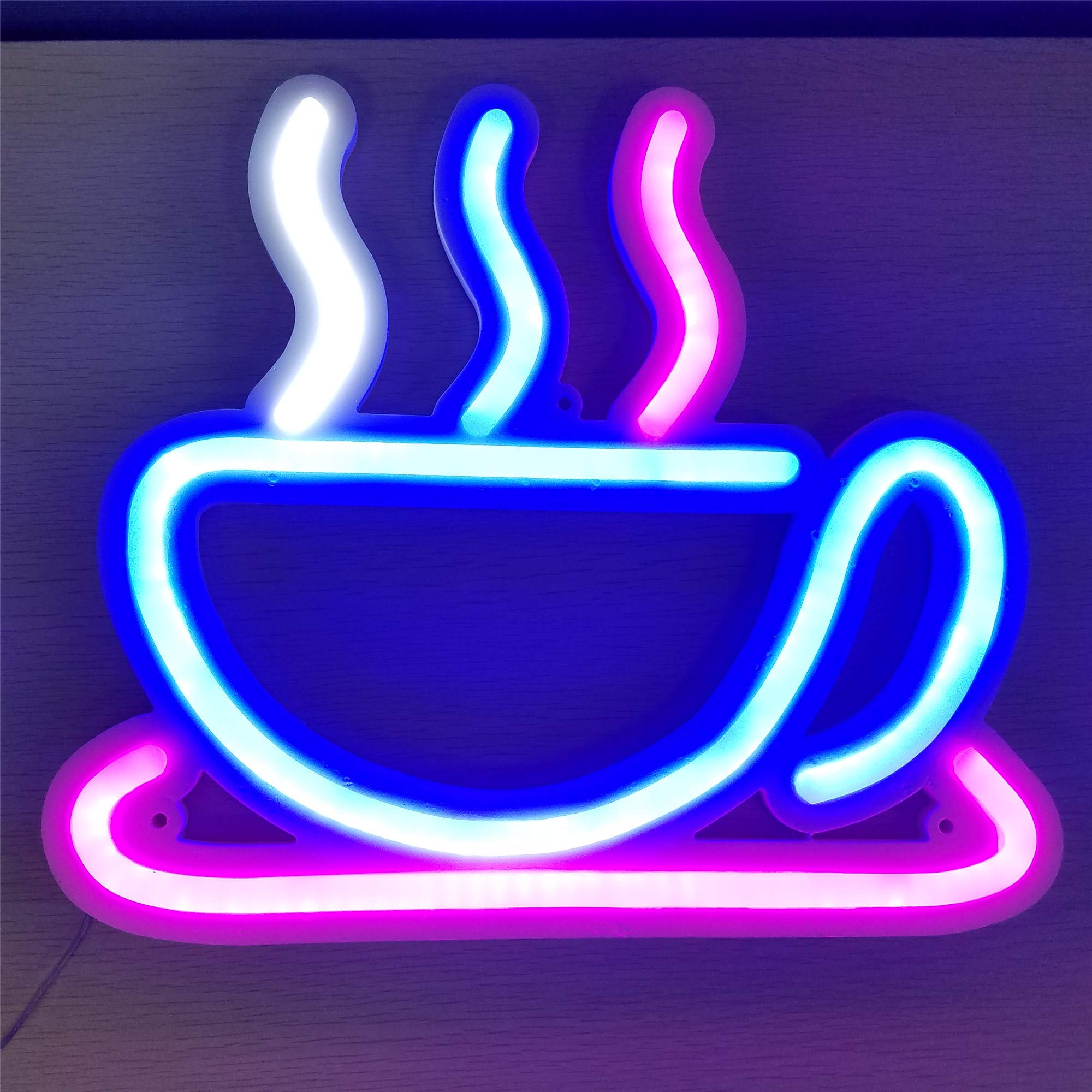 TJFEC Coffee neon Signs,LED neon Light Sign Boards with Micro Controller Home Shop bar Party Decorative Coffee Neon Light Wall Signs