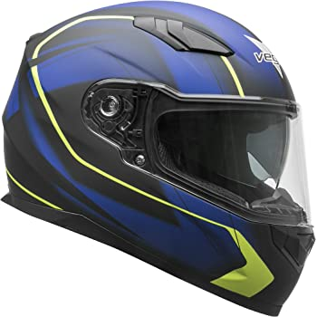 Vega Helmets 60030-023 RS1 Street Sunshield Motorcycle Helmet - DOT Certified Full Facerbike Helmet for Cruisers Sports Street Bike Scooter Touring Moped, ...