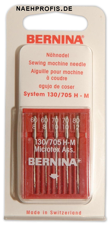 f/ür Microfaser und Seide St/ärken 60-80 BERNINA Microtex-Nadeln