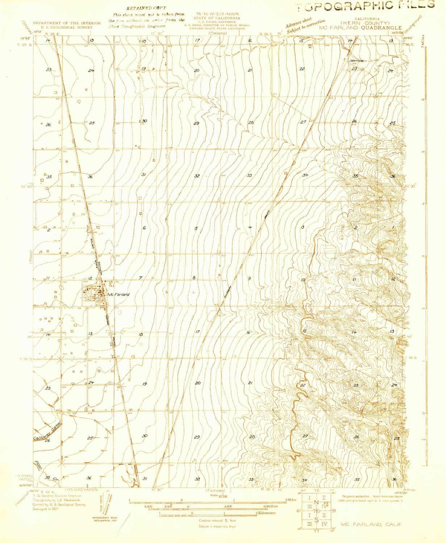 Amazon.com: YellowMaps McFarland CA topo map, 1:31680 Scale ...